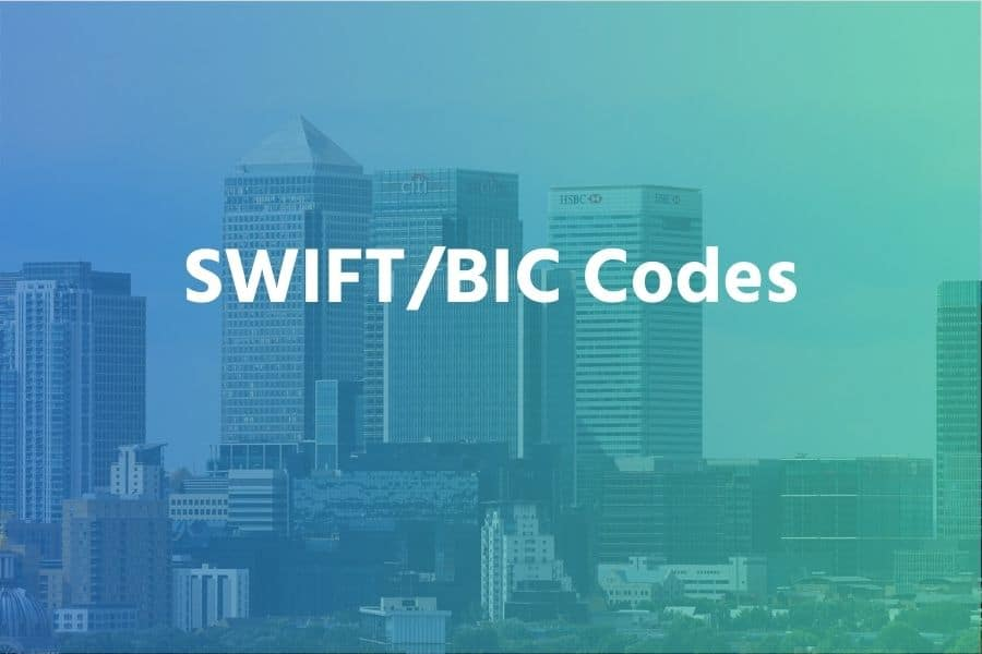 SWIFT codes for Banks